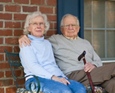 Elder couple sitting